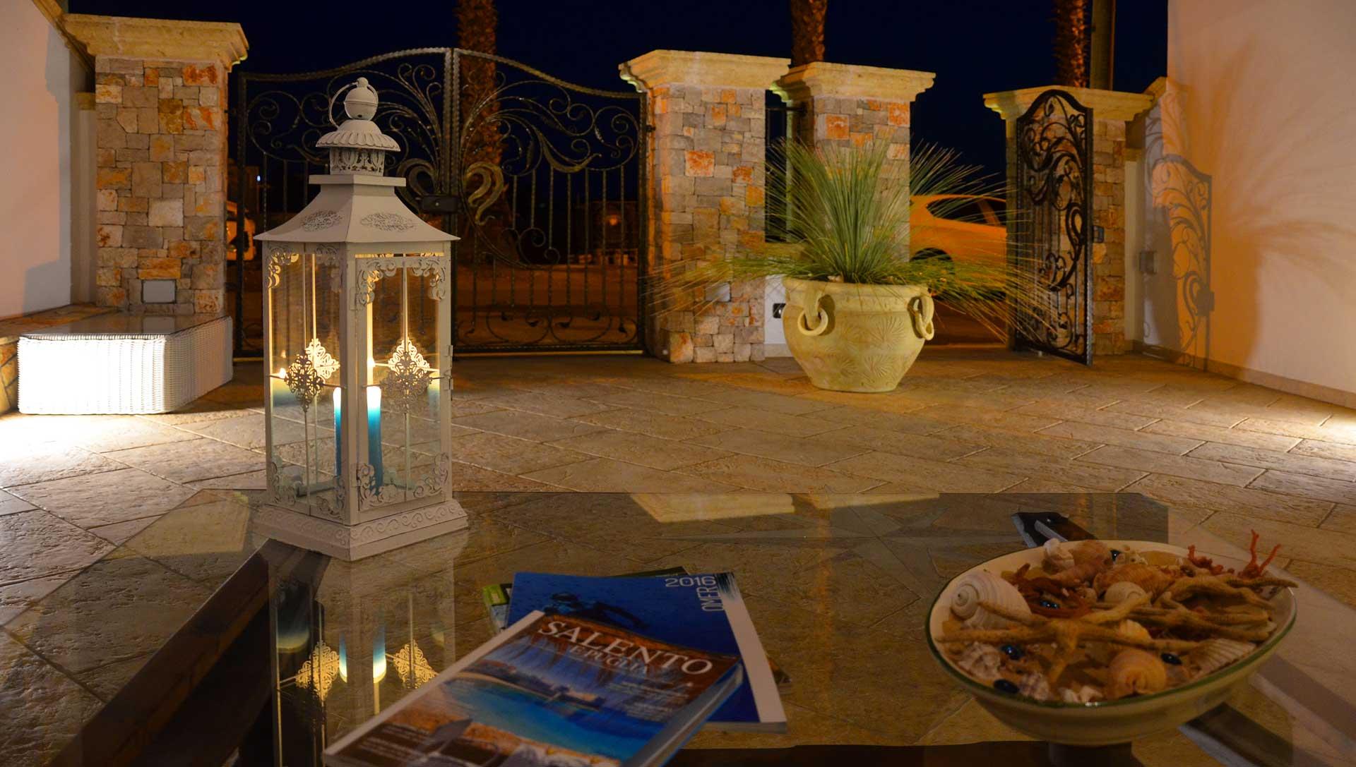 B&B Anemos - Morciano di Leuca - (Lecce), Salento - Spazi esterni finemente curati, ideali per ammirare i tramonti che il Salento sa regalare