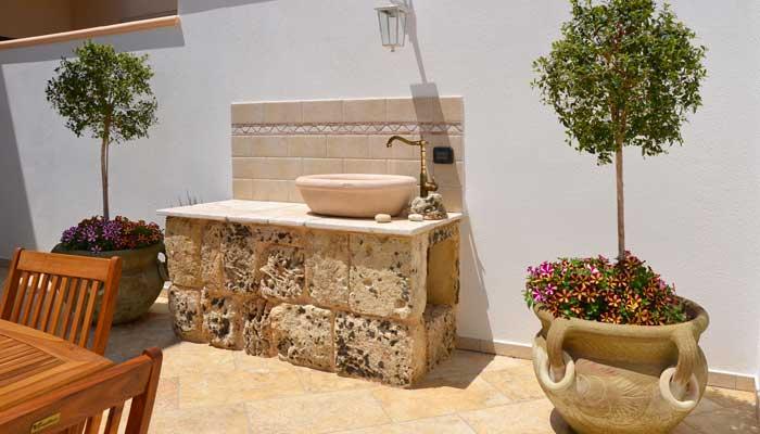 B&B Anemos - Morciano di Leuca- (Lecce), Salento - Giardino curato ed arredato nel rispetto della tradizione salentina
